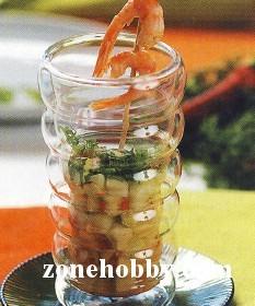 салат из огурцов с креветками