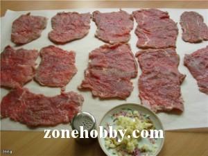 Рулетики из говядины с сыром (мастер-класс)