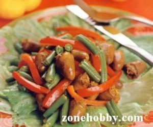 Теплый салат с куриными сердечками (мастер-класс)