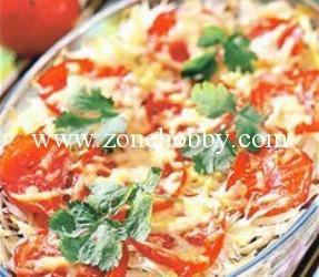 Запеканка из капусты с помидорами