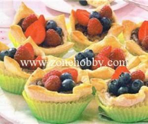 Слоеные корзиночки с фруктами