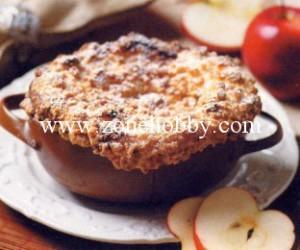 Творожная запеканка с яблоками и штрейзелем