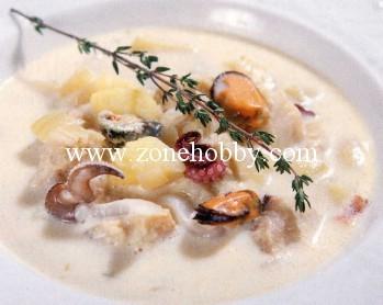 Крем суп с морскими деликатесами