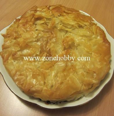 Пирог из теста фило с творожной начинкой
