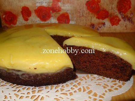 Шоколадный торт с лимонным кремом