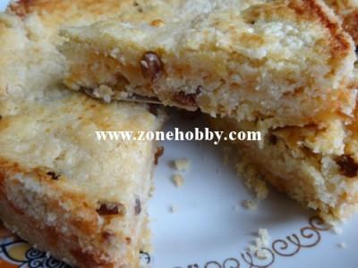 Насыпной яблочный пирог с изюмом